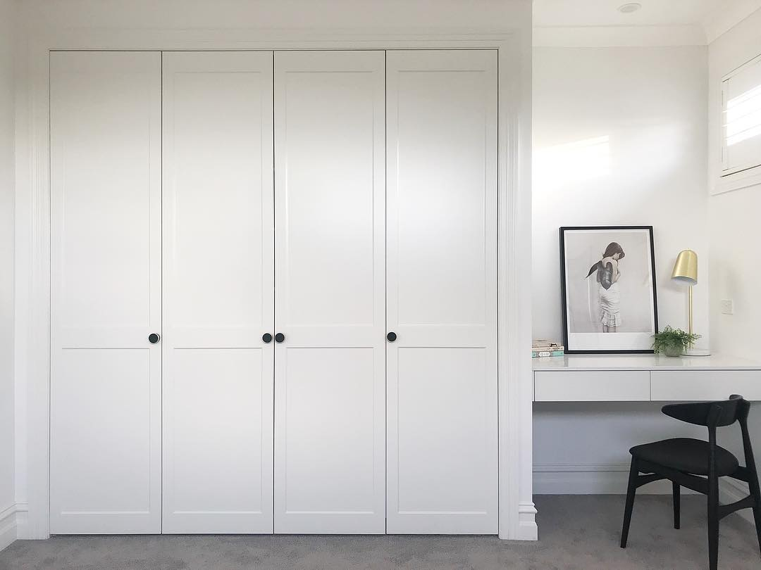 Julia and Sasha Renovation – Shaker Style Wardrobes in Guest Room