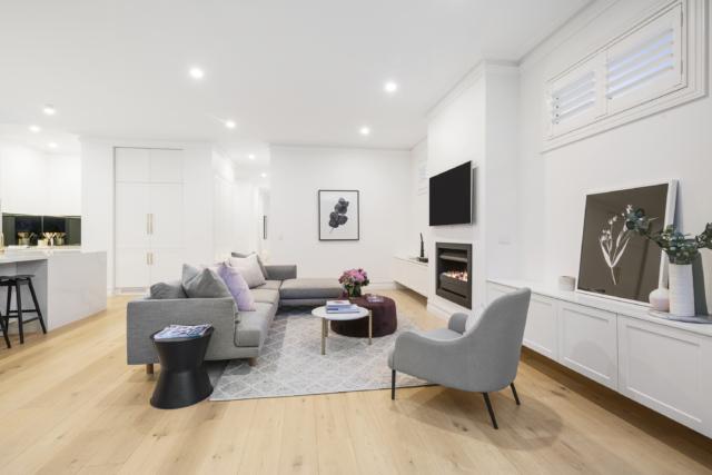 Julia & Sasha Living Room Cabinetry